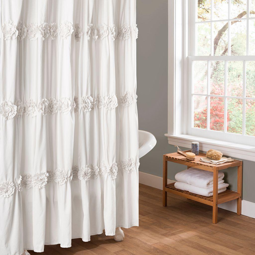 Lush Decor Darla Fabric Shower Curtain
