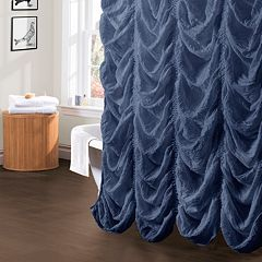 Lush Decor Madelynn Fabric Shower Curtain