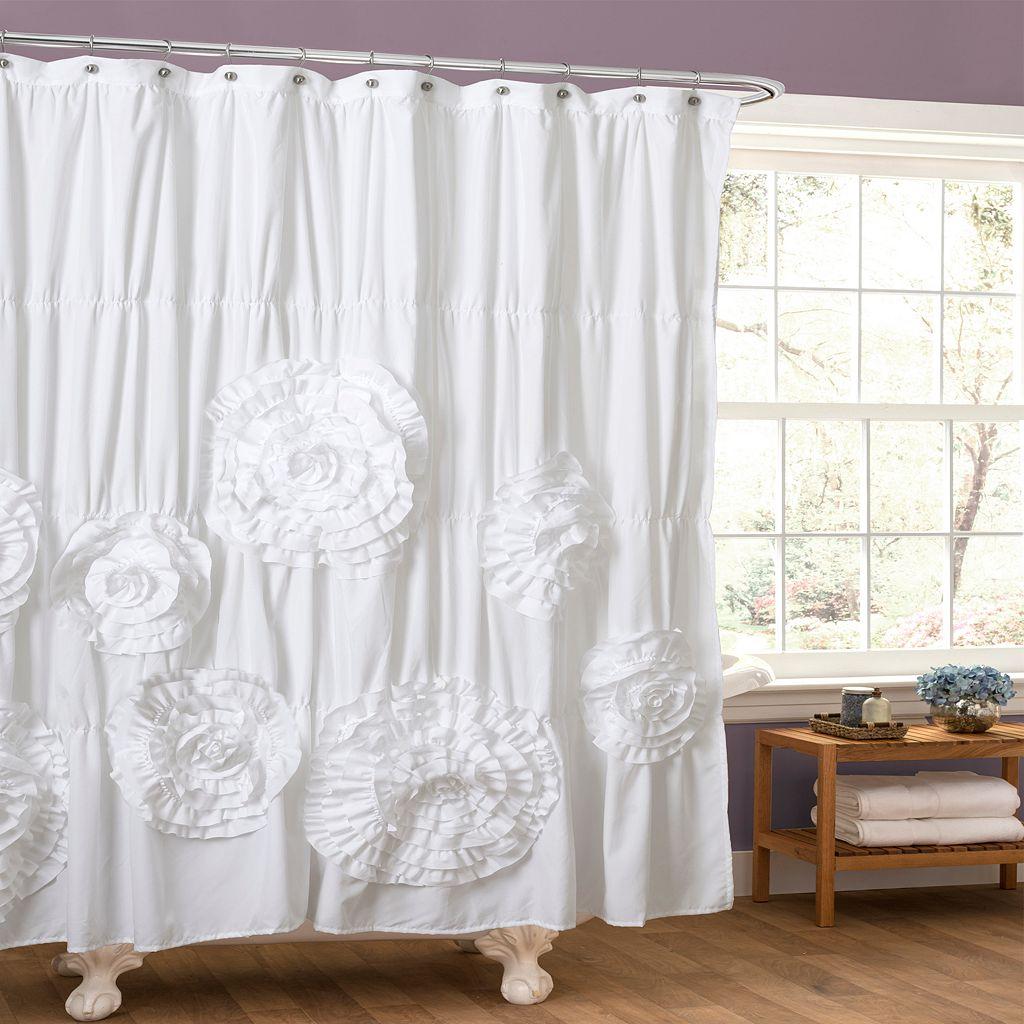Lush Decor Serena Fabric Shower Curtain