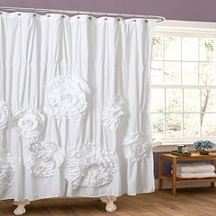 Lush Decor Serena Fabric Shower Curtain