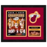 "Miami Heat Framed Milestones and Memories 11"" x 14"" Wall Art"