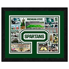 Michigan State Spartans Framed Milestones and Memories 11' x 14' Wall Art