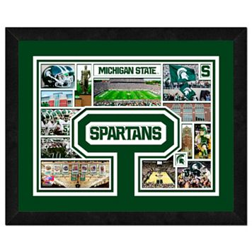Michigan State Spartans Framed Milestones and Memories 11