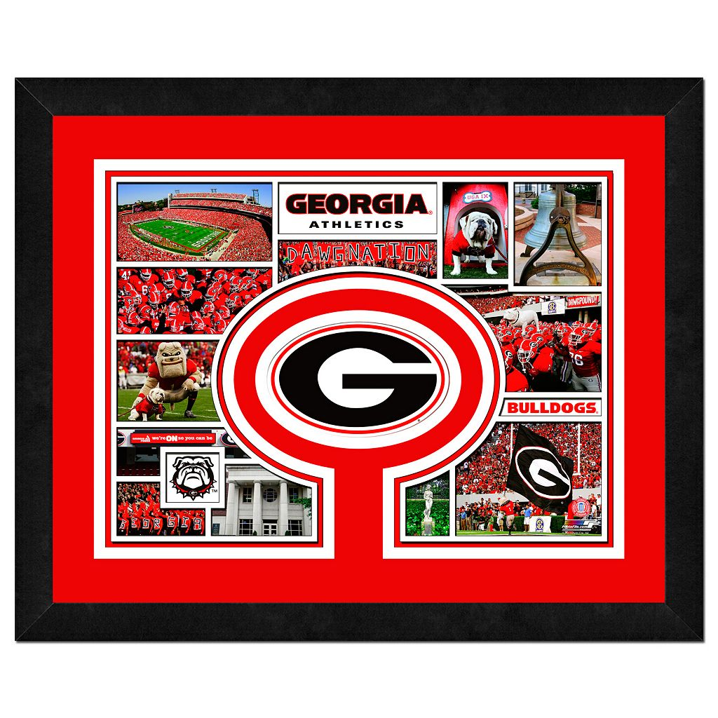 Georgia Bulldogs Framed Milestones and Memories 11