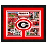 "Georgia Bulldogs Framed Milestones and Memories 11"" x 14"" Wall Art"