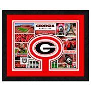 Georgia Bulldogs Framed Milestones and Memories 11' x 14' Wall Art