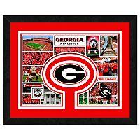 Georgia Bulldogs Framed Milestones and Memories 11