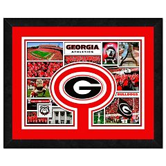 Georgia Bulldogs Framed Milestones and Memories 11' x 14' Wall Art