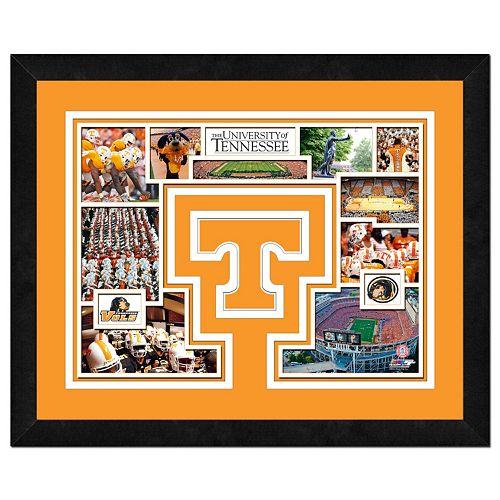 """Tennessee Volunteers Framed Milestones and Memories 11"""" x 14"""" Wall Art"""