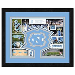 North Carolina Tar Heels Framed Milestones and Memories 11' x 14' Wall Art