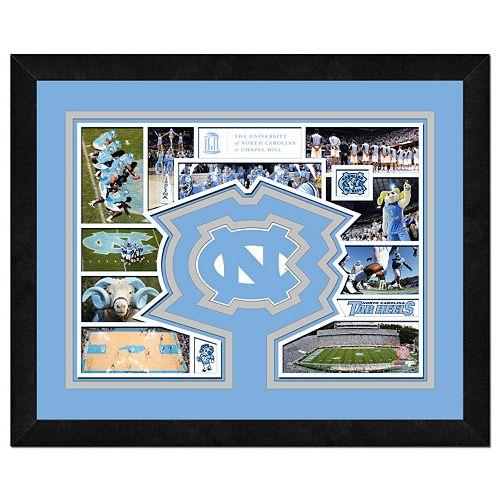 """North Carolina Tar Heels Framed Milestones and Memories 11"""" x 14"""" Wall Art"""
