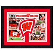 Wisconsin Badgers Framed Milestones and Memories 11' x 14' Wall Art