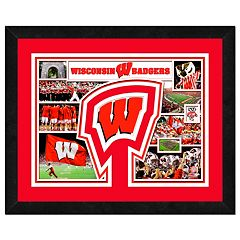 Wisconsin Badgers Framed Milestones and Memories 11' x 14' Wall Art