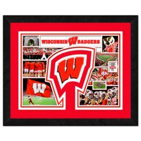 Wisconsin Badgers Framed Milestones and Memories 11'' x 14'' Wall Art
