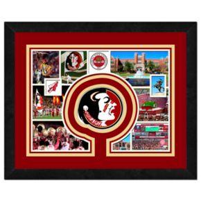 "Florida State Seminoles Framed Milestones and Memories 11"" x 14"" Wall Art"
