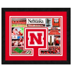 Nebraska Cornhuskers Framed Milestones and Memories 11'' x 14'' Wall Art