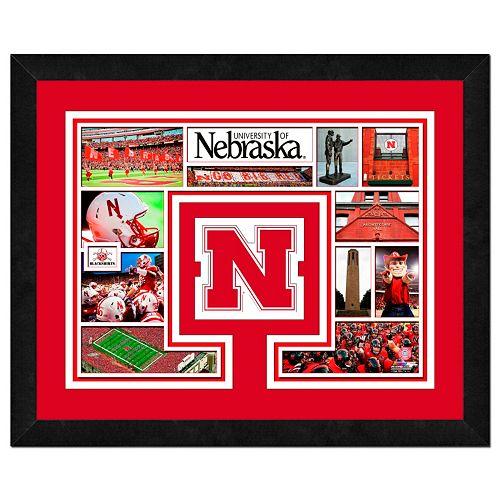 Nebraska Cornhuskers Framed Milestones and Memories 11