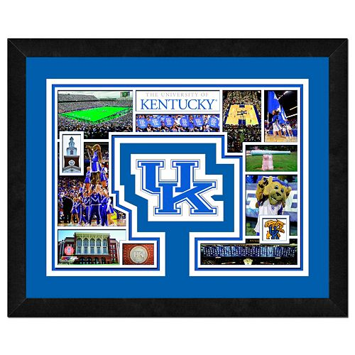 "Kentucky Wildcats Framed Milestones and Memories 11"" x 14"" Wall Art"