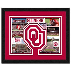 Oklahoma Sooners Framed Milestones and Memories 11' x 14' Wall Art