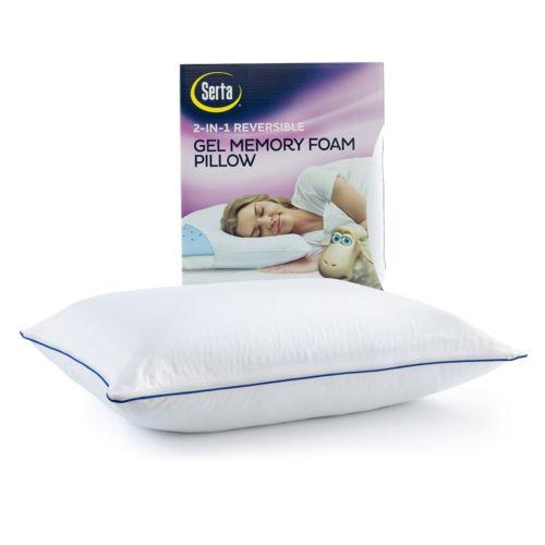 Serta 2-in-1 Reversible Gel Memory Foam Pillow