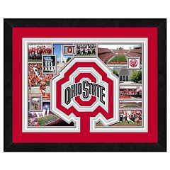Ohio State Buckeyes Framed Milestones and Memories 11' x 14' Wall Art