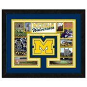 Michigan Wolverines Framed Milestones and Memories 11' x 14' Wall Art