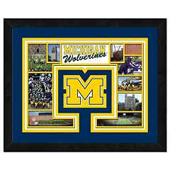 Michigan Wolverines Framed Milestones and Memories 11' x 14' Wall Art