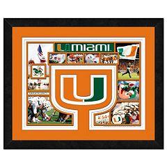 Miami Hurricanes Framed Milestones and Memories 11' x 14' Wall Art