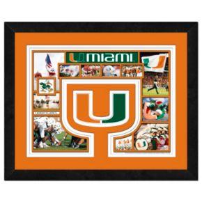 Miami Hurricanes Framed Milestones and Memories 11'' x 14'' Wall Art