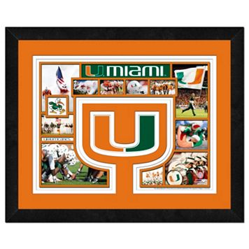 Miami Hurricanes Framed Milestones and Memories 11
