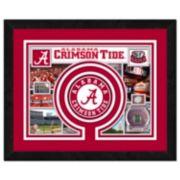 "Alabama Crimson Tide Framed Milestones and Memories 11"" x 14"" Wall Art"