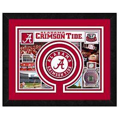 Alabama Crimson Tide Framed Milestones and Memories 11' x 14' Wall Art