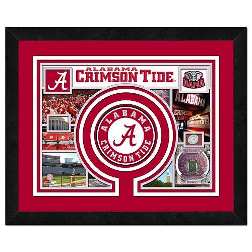 Alabama Crimson Tide Framed Milestones and Memories 11