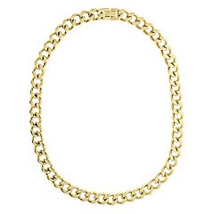 LYNX Yellow Ion-Plated Stainless Steel Curb Chain Necklace - 20 in