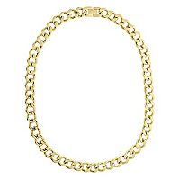 LYNX Yellow Ion-Plated Stainless Steel Curb Chain Necklace - 22 in