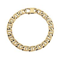 LYNX Yellow Ion-Plated Stainless Steel Mariner Chain Bracelet - 9 in