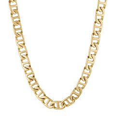 LYNX Yellow Ion-Plated Stainless Steel Mariner Chain Necklace - 22 in