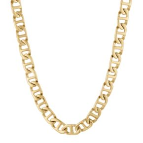 LYNX Yellow Ion-Plated Stainless Steel Mariner Chain Necklace - 22-in.