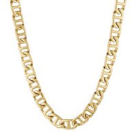 LYNX Yellow Ion-Plated Stainless Steel Mariner Chain Necklace - 24 in