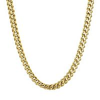 LYNX Yellow Ion-Plated Stainless Steel Foxtail Chain Necklace - 20 in