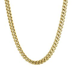 LYNX Yellow Ion-Plated Stainless Steel Foxtail Chain Necklace - 22 in