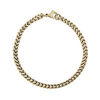 LYNX Yellow Ion-Plated Stainless Steel Foxtail Chain Bracelet - 9-in.