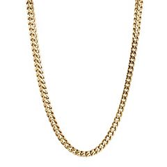 LYNX Yellow Ion-Plated Stainless Steel Foxtail Chain Necklace - 20-in.