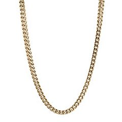 LYNX Yellow Ion-Plated Stainless Steel Foxtail Chain Necklace - 24 in