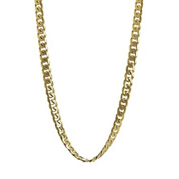 LYNX Yellow Ion-Plated Stainless Steel Curb Chain Necklace - 22-in.