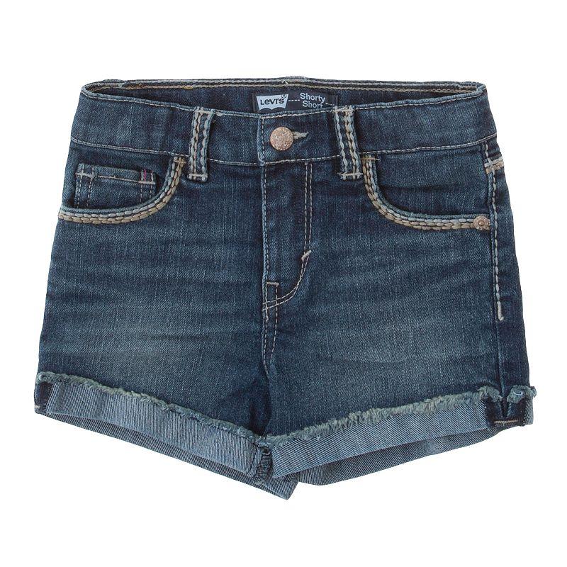 Levi's Thick-Stitch Denim Shorts - Girls 4-6x
