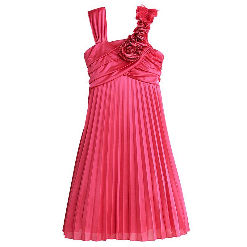 My Michelle Rosette Pleated Dress - Girls 7-16