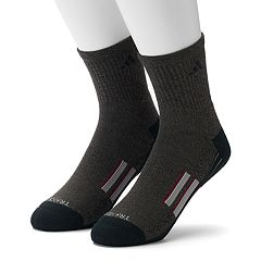 Men's adidas 2 pkClimalite X Half-Crew Performance Socks