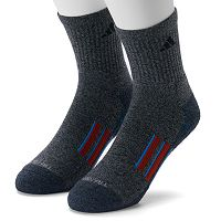 Men's adidas 2-pk. Climalite X Half-Crew Performance Socks