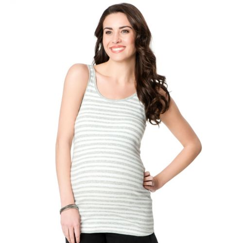 Oh Baby by Motherhood™ Striped Ribbed Tank - Maternity